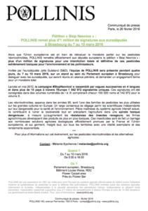 Pétition « Stop Neonics » : POLLINIS-remet-plus-d1-million-de-signatures-a-Strasbourg