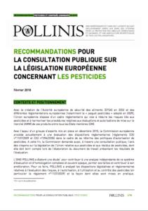 Recommandations consultation publique pesticides
