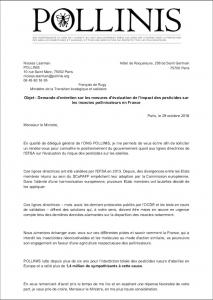 lettre ouverte Ministère ENVI - position FR EFSA GD