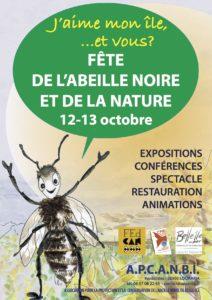 affiche fete abeille noire 2019
