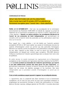 CP_TESTS_ABEILLE_22_OCTOBRE_2019_POLLINIS