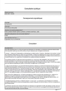 consultation publique derogation neonics