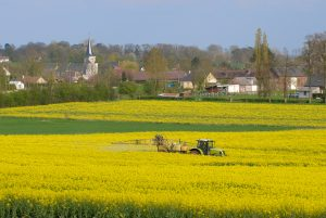Normandy,,France,,April,2015.,Insecticide,Application,With,A,Spraying,Machine
