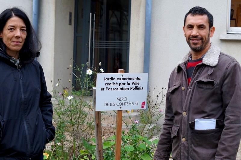Sarah Cantal-Dupart, chargée de mission à Villejuif, et Hacène Hebbar, directeur des Projets chez POLLINIS.